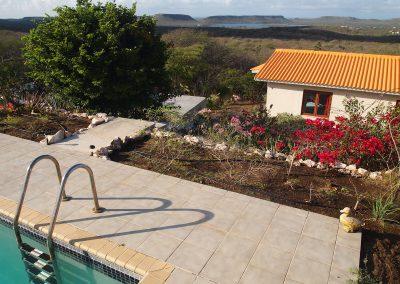 verbinding zwembad en huis